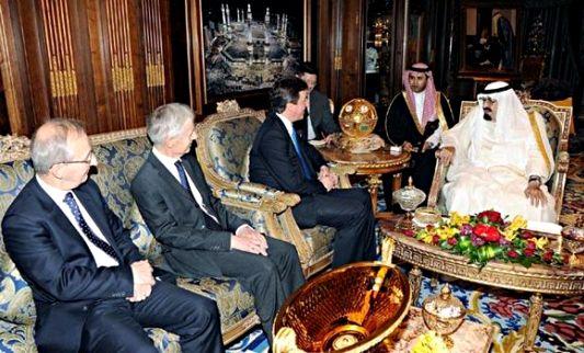 King Abdullah & David Cameron