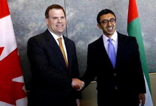 Sheikh Abdullah meets Canadian Premier & FM
