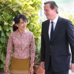 British PM meets Myanmar Leaders on Historic Visit