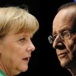 Merkel faces showdown with Hollande over eurozone crisis