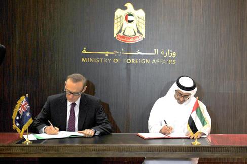 UAE and Australia sign Uranium Agreement