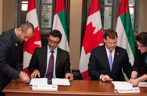 Sheikh Abdullah and John Baird Sign Peaceful Nuclear Energy Agreement