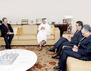 Sheikh Abdullah receives Ambassadors of Security Council's Permanent Members