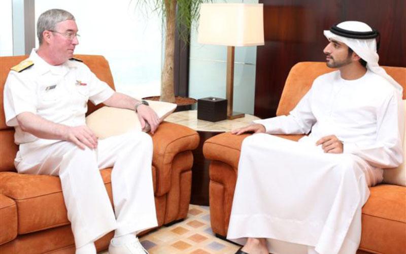 Sheikh Hamdan meets US Naval Commander