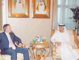 Sheikh Abdullah Receives Tony Blair