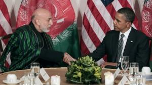 Obama Karzai Discuss Ending Afghan War