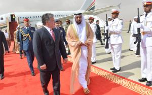 President Khalifa Holds Talks with King Abdullah of Jordan