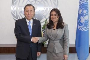 Ban Ki-moon Receives 1st Female UAE delegate to UN