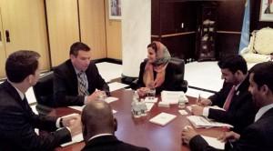 Sheikha Lubna Meets Norwegian Counterpart