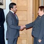 Sheikh Abdullah meets Latvian PM