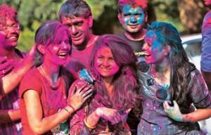 Splash of colours as Indians Celebrate Holi