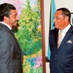 FM Meets PM of Bahamas
