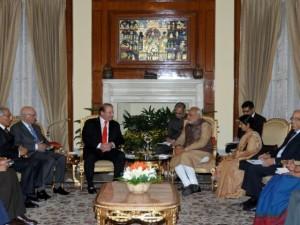 India-Pakistan PM's meet in New Delhi