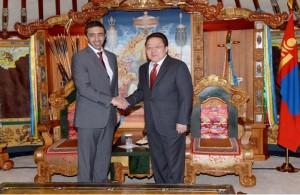 President of Mongolia receives Sheikh Abdullah