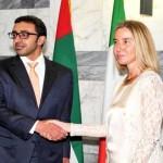 Sheikh Abdullah meets his Italian counterpart