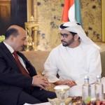 Sheikh Hamdan meets Palestinian Public Works Minister