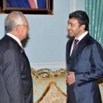 Sheikh Abdullah meets Singapore's PM