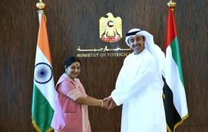 Sheikh Abdullah receives Indian Counterpart