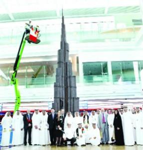 Dubai Airport unveils chocolate 'Burj Khalifa'