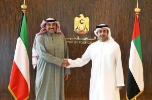Sheikh Abdullah meet Kuwaiti Counterpart