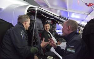 FM inspects Solar Impulse plane
