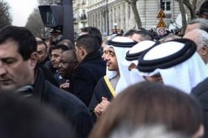 Sheikh Abdullah participates in Paris unity rally