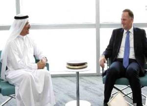 Al Mansouri discuss economic ties with New Zealand's PM