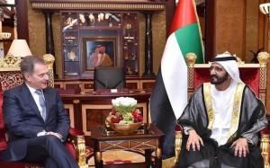 Sheikh Mohammed receives Finnish President