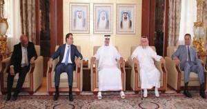 Nahyan receives Lebanese economic delegation