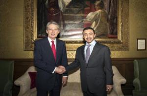 Sheikh Abdullah meets UK Defence Secretary