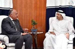 Sheikh Abdullah receives Egyptian counterpart
