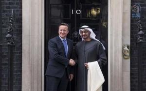 Sheikh Mohamed bin Zayed meets Cameron