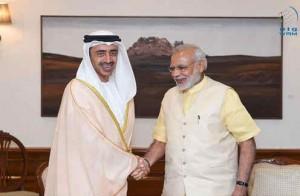 Sheikh Abdullah meets India's PM