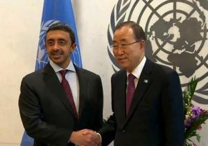 Sheikh Abdullah meets UN Secretary General