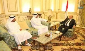 President Hadi praises UAE for supporting Yemen