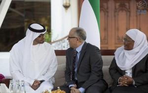 Sheikh Mohamed bin Zayed receives Arab Parliament delegation
