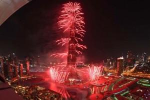 Dazzling fireworks to shower Dubai at midnight