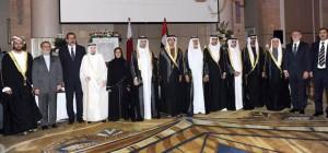 Sheikh Mansour attends Qatari embassy reception