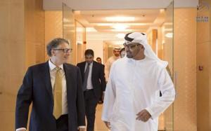 Sheikh Mohamed bin Zayed receives Bill Gates