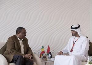 Sheikh Mohamed bin Zayed receives Ethiopian PM