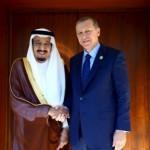 King Salman holds talks with Turkish PM