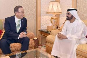 Sheikh Mohammed receives Ban Ki-moon