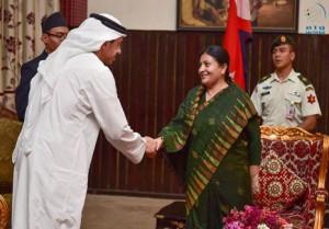 President of Nepal receives Sheikh Abdullah