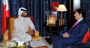 Shaikh Nasser receives Pakistani ambassador