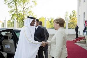 Sheikh Mohamed bin Zayed meets German Chancellor