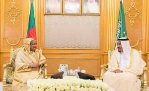 Saudi King receives Bangladeshi Premier