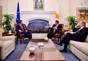 Cypriot President receives Sheikh Abdullah