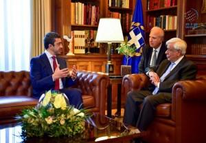 Greek President receives Sheikh Abdullah