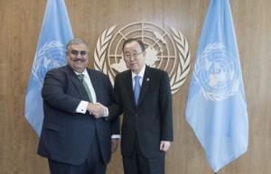 Bahrain's FM meets UN Secretary-General