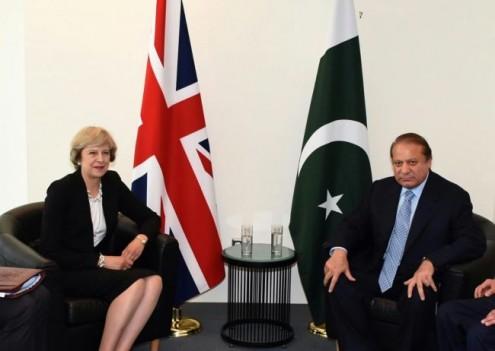 PM Nawaz meets British counterpart